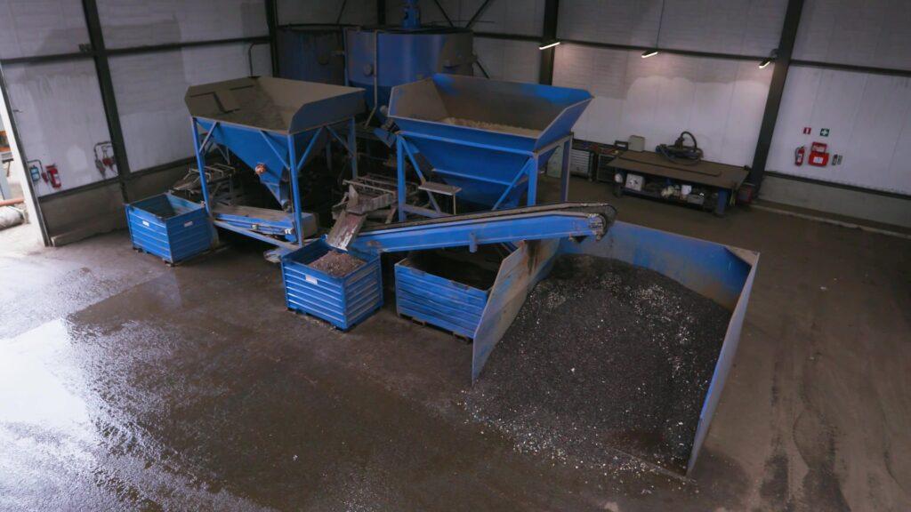 Riwald Recycling natseparatietagel voor scheiding ferrous en non-ferrous