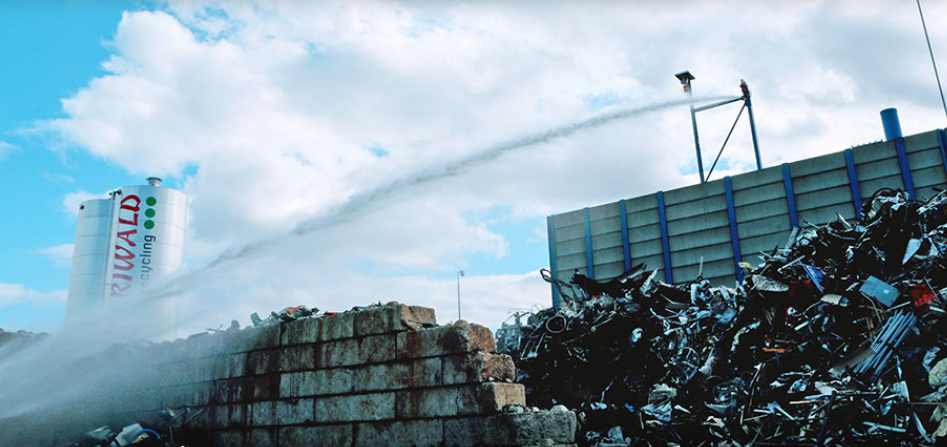 Riwald Recycling PYROsmart - automatische 24/7 branddetectie op infrarood i.c.m. bluskanon
