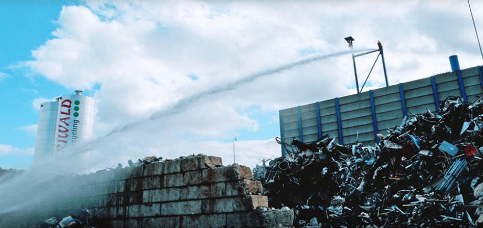 pyrosmart systeem anti brand anti vuur blussen riwald recycling plaats