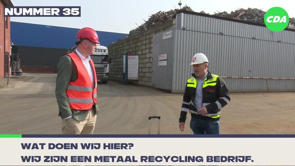 cda werkbezoek bij riwald recycling piet cees in almelo politiek
