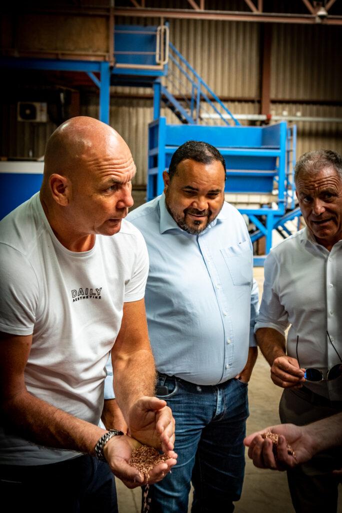 bonaire bezoek projecten riwald recycling