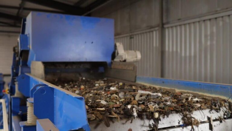 kleinert voor kleurenscheiding Riwald Recycling scheiding ferrous en non-ferrous
