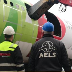 Riwald Recycling metaalrecycling van vliegtuigen van AELS