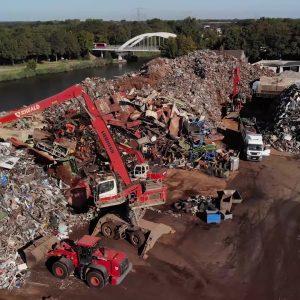 Riwald Recycling Louritex schrootschaar voor knippen HMS 1/2